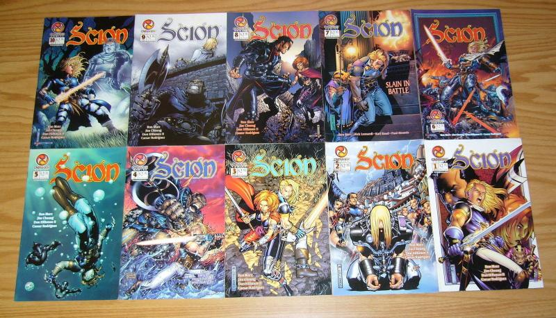 Scion #1-43 VF/NM complete series + customer review copy - ron marz - crossgen
