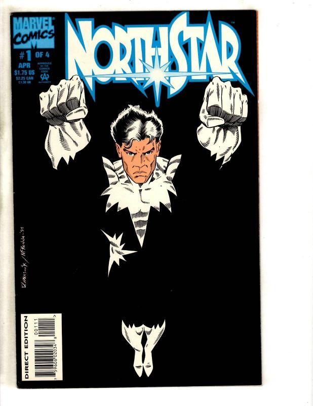 8 Marvel Comics Northstar # 1 2 3 4 + Obnoxio 1 + Universe 17 + Ororo # 1 2 CR33