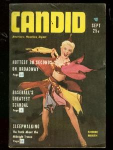 CANDID MAGAZINE #1 1953-CHEESECAKE-BLACK SOX SCANDAL- FN