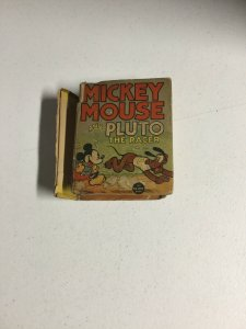 Mickey Mouse And Pluto The Racer Fr Fair 1.0 Spine Split Big Little Book