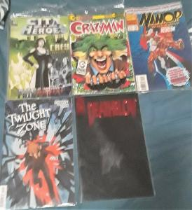 5 MIXED COMICBOOKS-DEATHBLOW/TWILIGHT ZONE/CITYOFHEROES/CRAZYMAN/NAMOR-90/2000'S