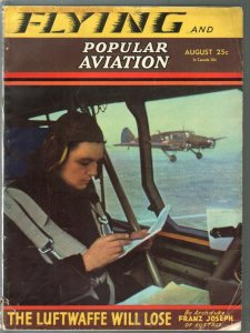 Popular Aviation 8/1941-Luftwaffe Will Lose-war issue-pulp thrills-VG-