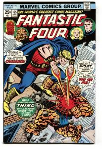 FANTASTIC FOUR #165 1975 2nd appearance of Thelius the Eternal/Crusader