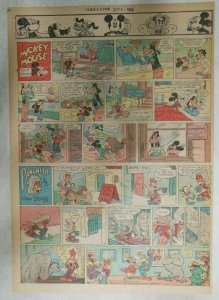 Mickey Mouse Sunday Page by Walt Disney from 9/9/1945 Tabloid Page Size