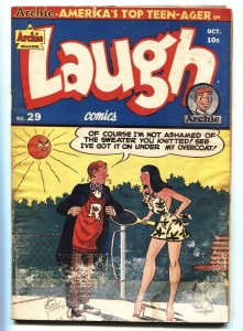 Laugh Comics #29 1948-Archie-Katy Kenne-Spicy Tennis cover