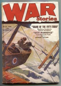 War Stories Pulp July 18 1929- Shane of the Fifty-Third
