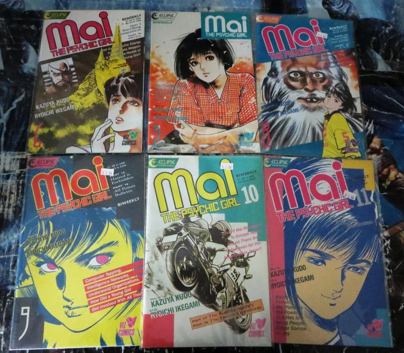 Mai The Psychic Girl Collection!13 issues, Eclipse Comics, Manga, Kudo- Ikegami!
