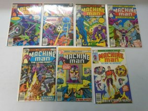 Machine Man lot 13 different from #2-16 avg 5.0 VG FN (1978-80)