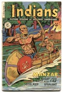 Indians #3 1950- Fiction House Golden Age Western- Manzar G