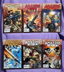 Will Pfeifer Wonder Woman AMAZONS ATTACK #1 - 6 Pete Woods (DC, 2007)!