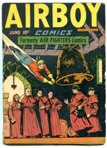 Airboy Comics Vol 3 #5 1946- Golden Age- Tommy Gun cover G/VG