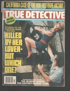 True Detective 3/1982-RGH-Fire escape rescue cover-He Set Fire To The Drug D...