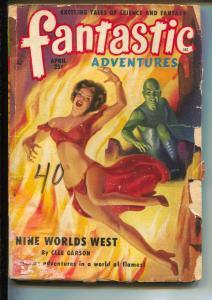 Fantastic Adventures-Pulp-4/1951-Clee Garson-Rog Phillips