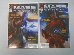 Mass Effect Redemption #1+2 8.5 VF+ (2010 Dark Horse)