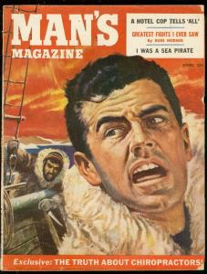 MAN'S MAGAZINE APRIL 1955-SEA PIRATES-RUSS HODGES-CLEO VG