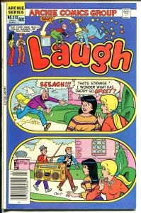 Laugh #373 1982-Archie-Betty-Veronica-giant boom box-FN