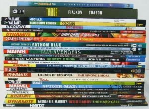 Wholesale lot of (25) TPBs - marvel/dc/more  spider-man blue - (value: $391.77)