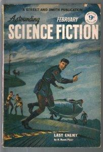 Astounding Science Fiction British Edition 2/1951-sci-fi pulp fiction-de Camp-VG