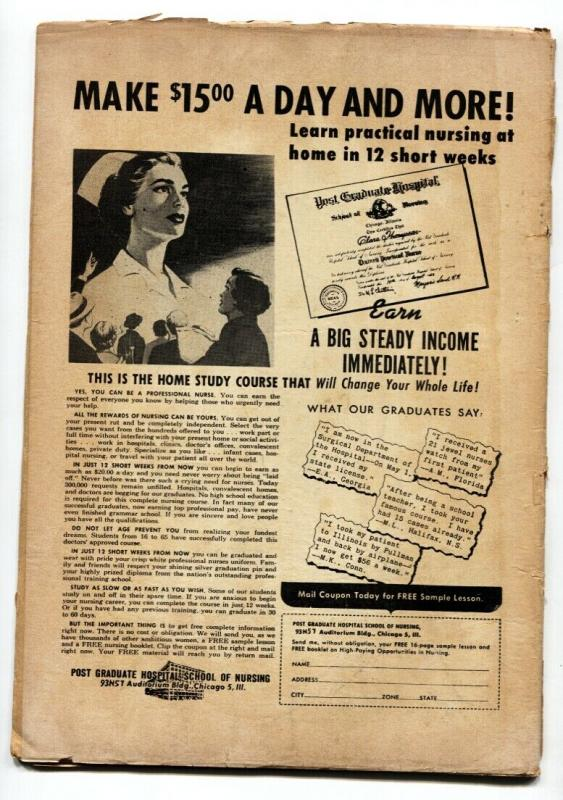 Strange #2 1957- Ajax Horror comic book- Giant Cat cover