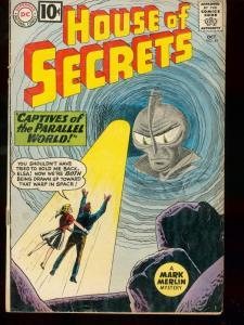 HOUSE OF SECRETS #49 1961 DC COMICS MARK MERLIN AZTECS G/VG