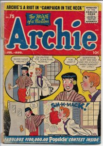Archie #75 - Golden Age - Vol. 1, July/Aug. 1955 (G)