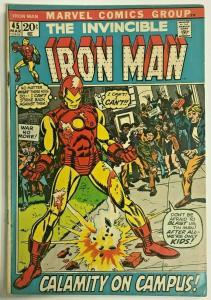 INVINCIBLE IRON MAN#45 VG 1972 MARVEL BRONZE AGE COMICS