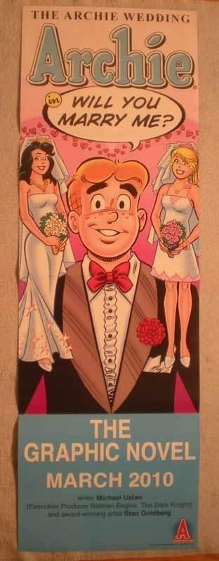 ARCHIE WEDDING Promo Poster, 11x34, 2010,  Unused, more Promos in store
