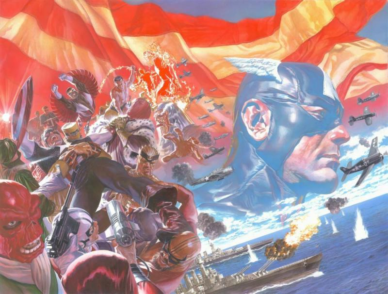 Captain America #1 Poster by Alex Ross (24 x 36) Rolled/New!
