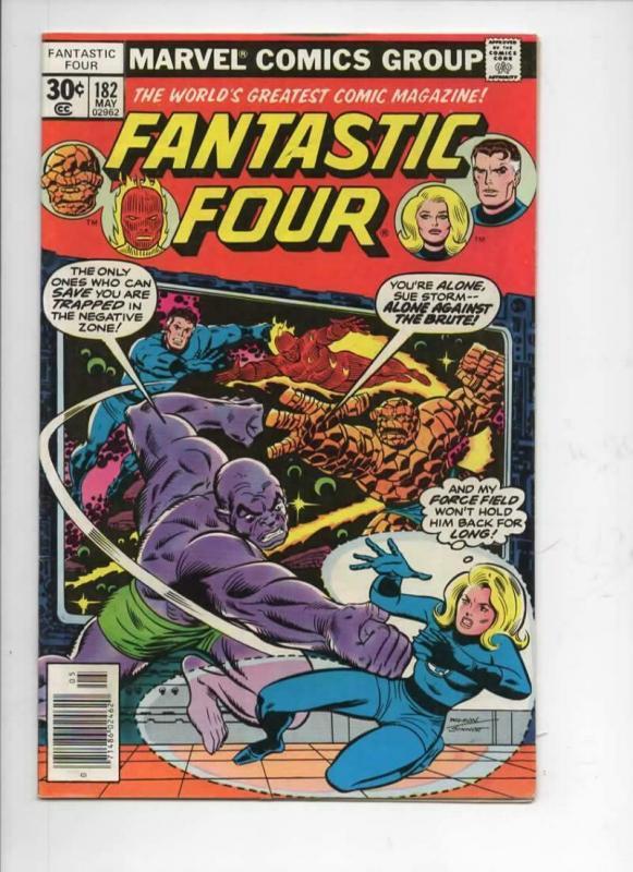 FANTASTIC FOUR #182, VG/FN, Brute, Sinnott, 1961 1977, more FF in store