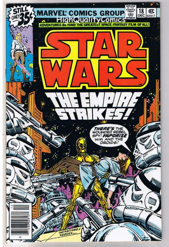 STAR WARS #18, VF/NM, Luke Skywalker, Darth Vader, 1977, more SW in store
