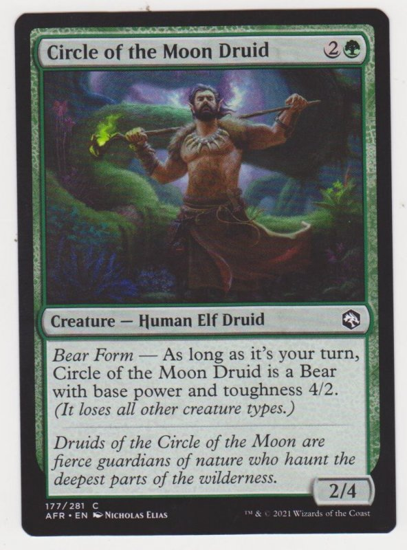 Magic the Gathering: Adventures in the Forgotten Realms - Circle of the Moon Dru