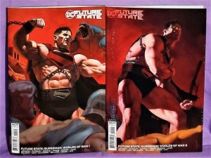 DC Future State SUPERMAN Worlds of War #1 - 2 Variant Covers (DC, 2021)!