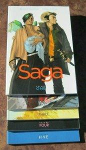 Lot/Set Saga Volumes #1-5 NM/NM+ High Grade Image Graphic Novel TPB Comic Books