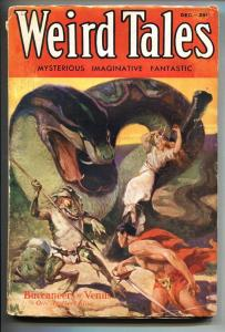 Weird Tales 12/1932-1st CONAN story by Robert E Howard-Pulp Magazine