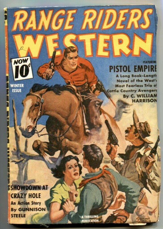 Range Riders Western Pulp Winter 1941- Pistol Empire FN+