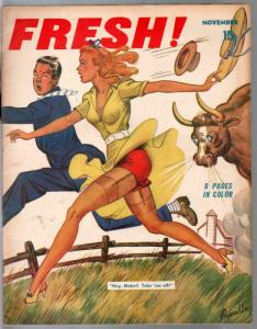 Fresh #1 11/1940-Elite-1st issue-pin-ups-cartoons-gags-spicy art-FN-