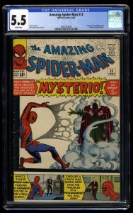 Amazing Spider-Man #13 CGC FN- 5.5 White Pages 1st Mysterio!