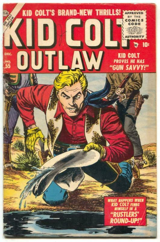 Kid Colt Outlaw #55 1955- 1st Severin cover of the series VG