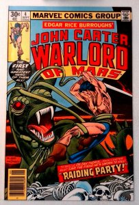 John Carter Warlord of Mars #4 Marvel 1977 NM- Bronze Age Comic Book 1st Print