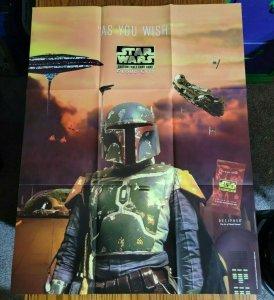 33 x 26 Star Wars CCG Boba Fett As You Wish Promo Poster NO PIN HOLES NEW