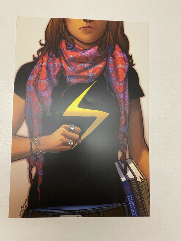 Ms. Marvel #1 Marvel Comics poster by Sara Pichelli