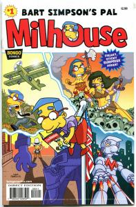 MILHOUSE #1, NM, w/ Sticker, Simpsons Pal, Bart, 2012, more Bongo in store
