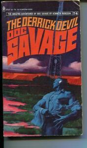 DOC SAVAGE-THE DERRICK DEVIL-#74-ROBESON-G/VG-FRED PFEIFFER COVER-1ST E G/VG