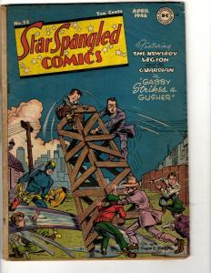 Star Spangled Comics #55 VG DC Golden Age Comic Book Newsboy Legion Guardian BE1