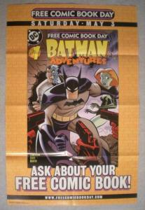 BATMAN ADVENTURES Promo Poster, 22x34, 2003, Unused, more Promos in store