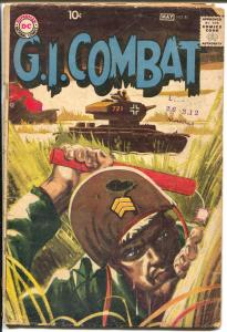 G.I. Combat #81 1960-DC-WWII stories-greytone cover-G