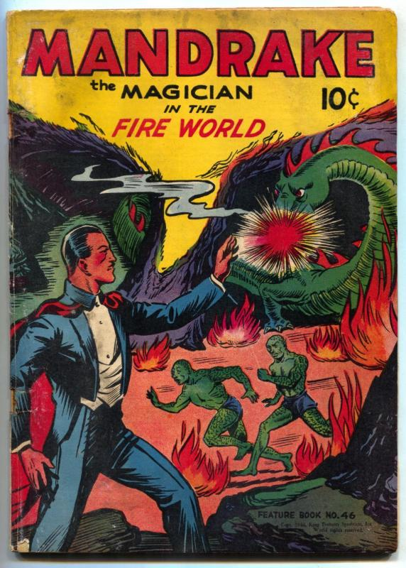 Feature Book #46 1946- Mandrake the Magician in the Fire World- G/VG