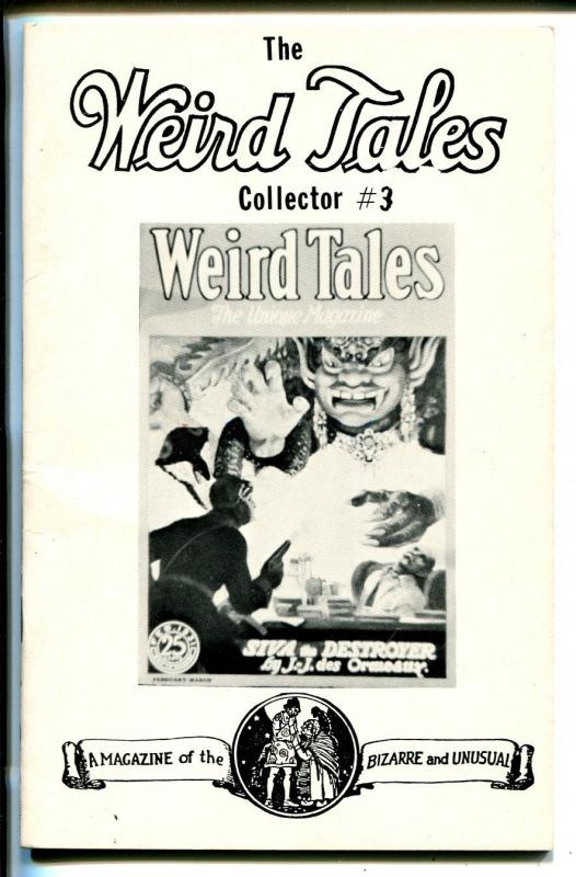 Weird Tales Collector #3 1978-Weinberg-fanzine-index from 1/1933 thru 9/1938-FN