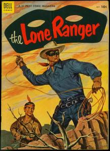 THE LONE RANGER #73-1954-DELL-TONTO-SILVER-SILVER BULLET-vg
