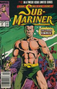 Saga of the Sub-Mariner #12 (Newsstand) VF/NM; Marvel | save on shipping - detai
